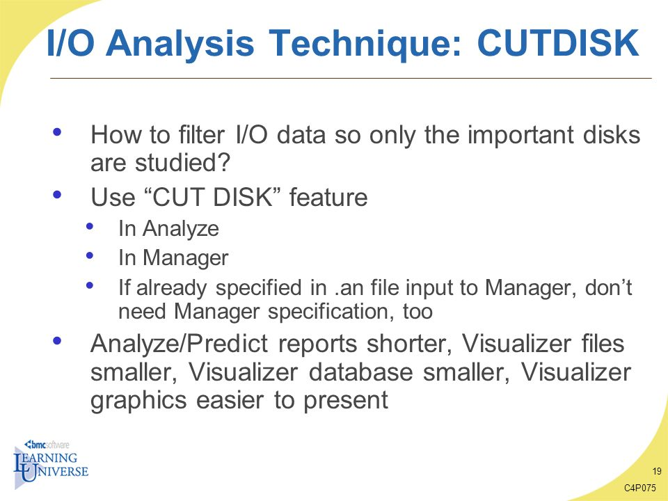 I/O Analysis Technique: CUTDISK