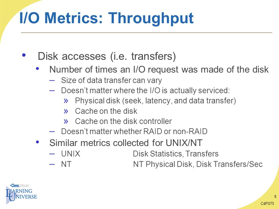 I/O Metrics: Throughput