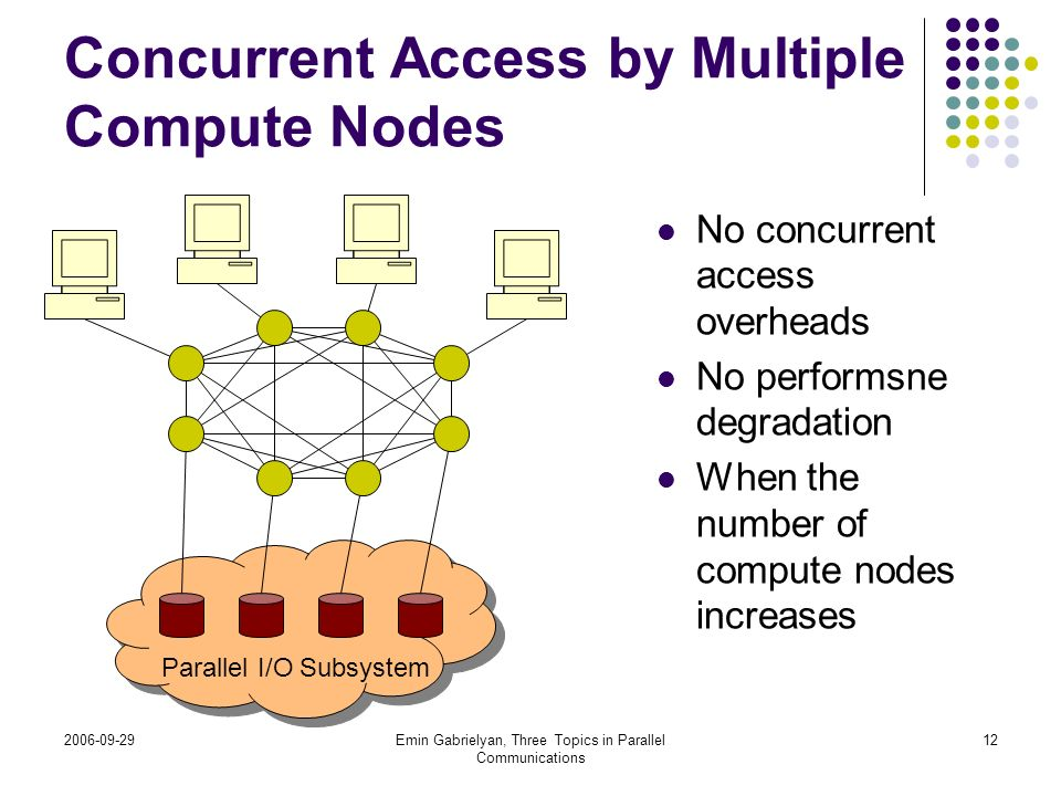 Concurrent Access by Multiple Compute Nodes