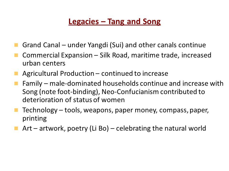 Legacies – Tang and Song