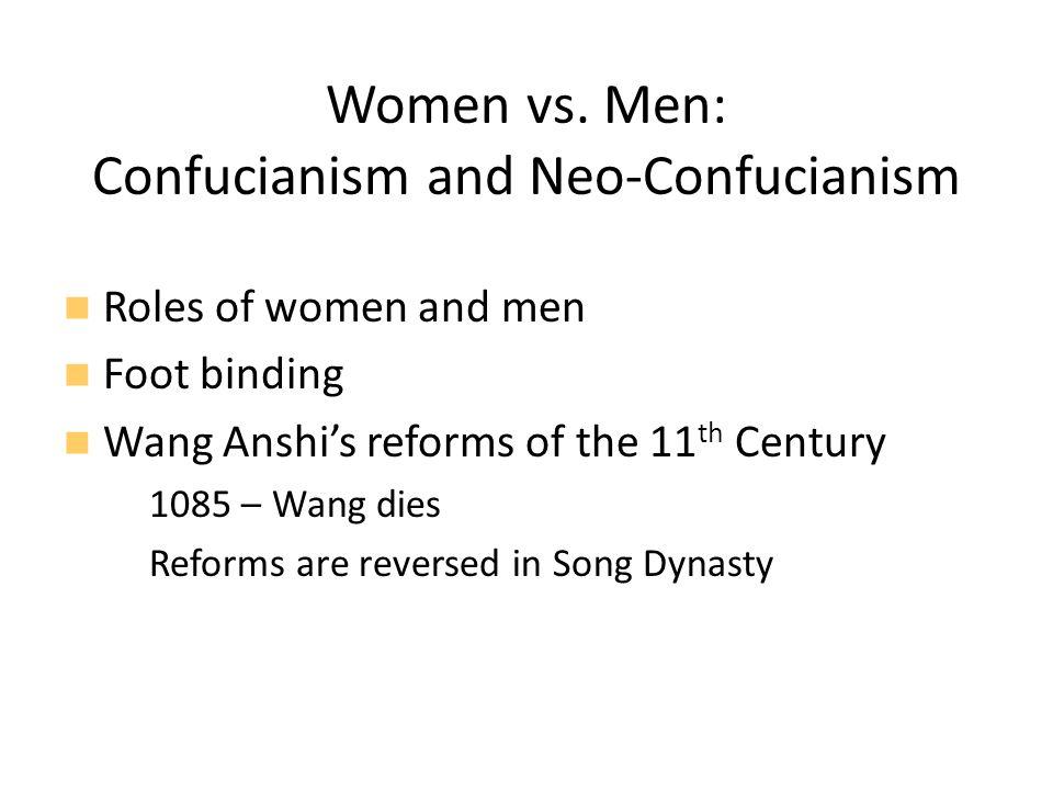 Women vs. Men: Confucianism and Neo-Confucianism