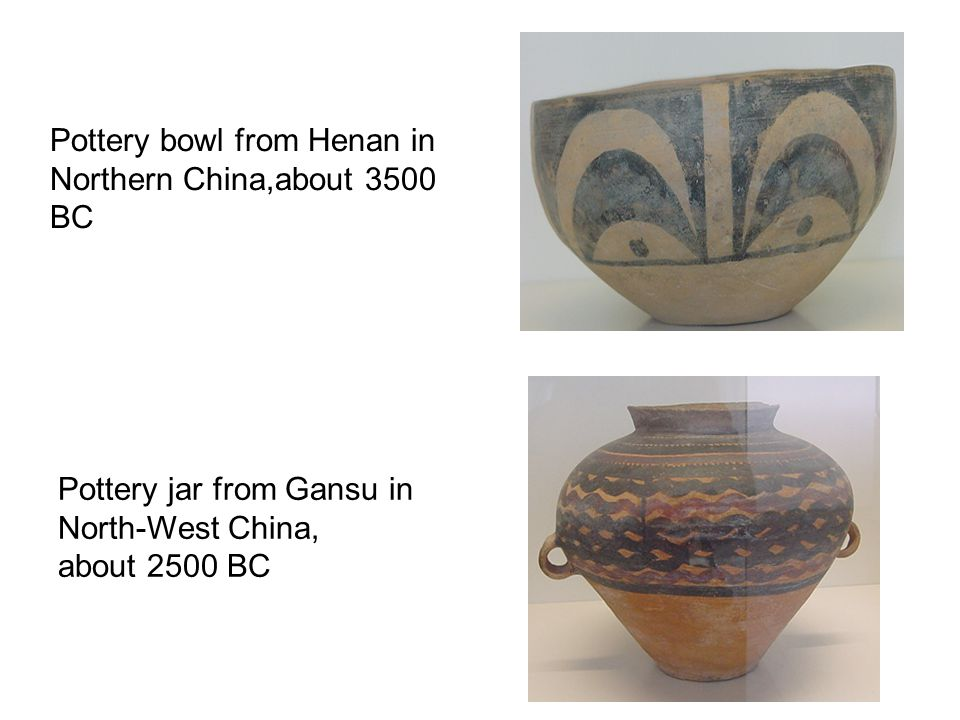 Pottery bowl from Henan in Northern China,about 3500 BC