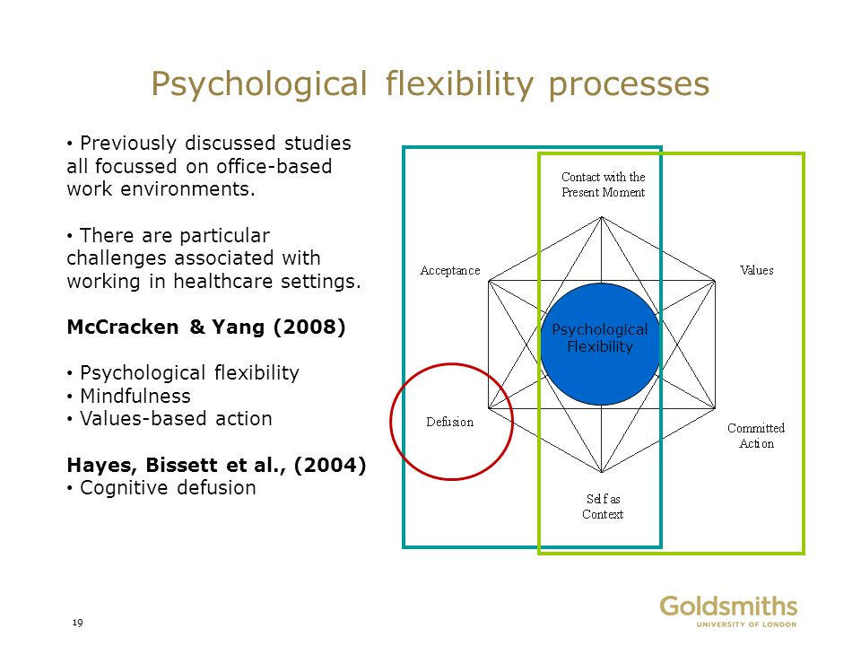 Psychological flexibility processes