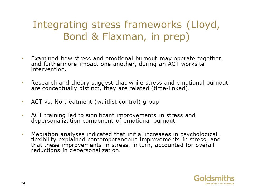 Integrating stress frameworks (Lloyd, Bond & Flaxman, in prep)