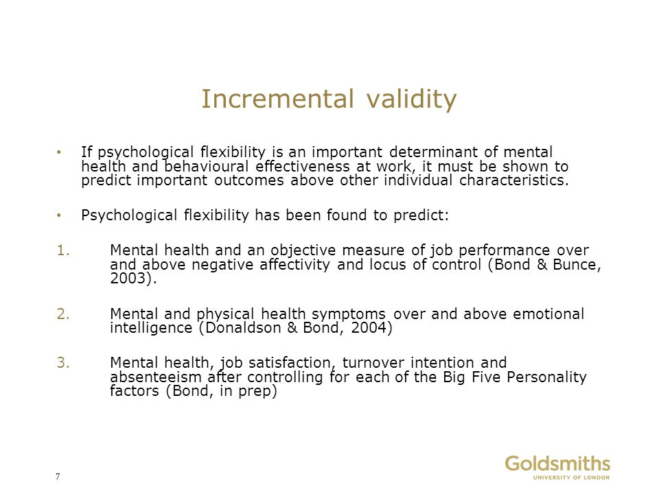 Incremental validity