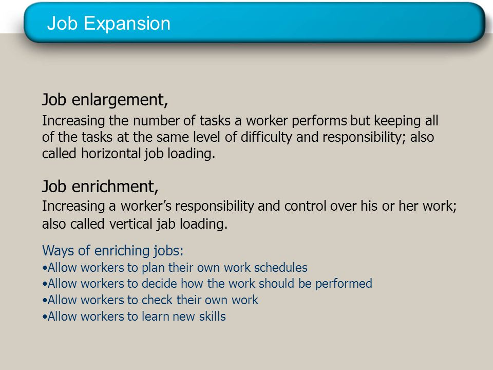 Job Expansion © 2005 Prentice Hall Inc. All rights reserved.