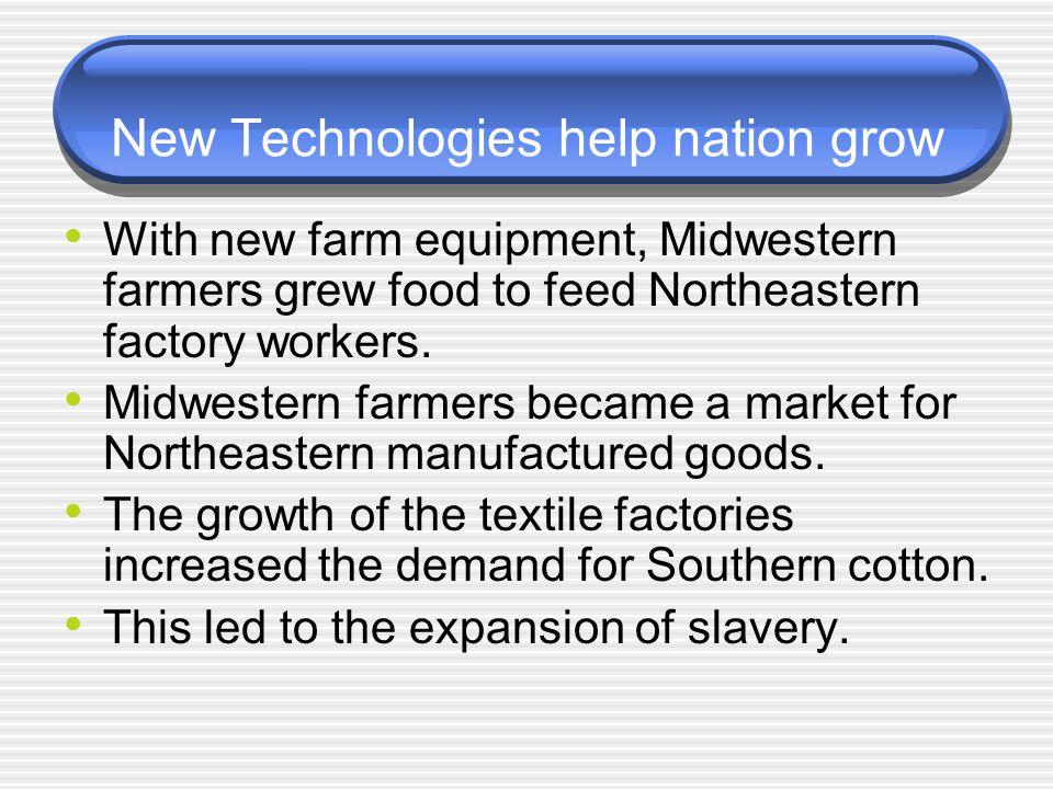 New Technologies help nation grow
