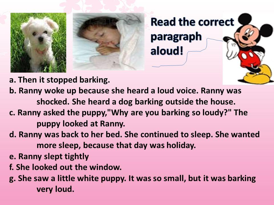 Read the correct paragraph aloud!