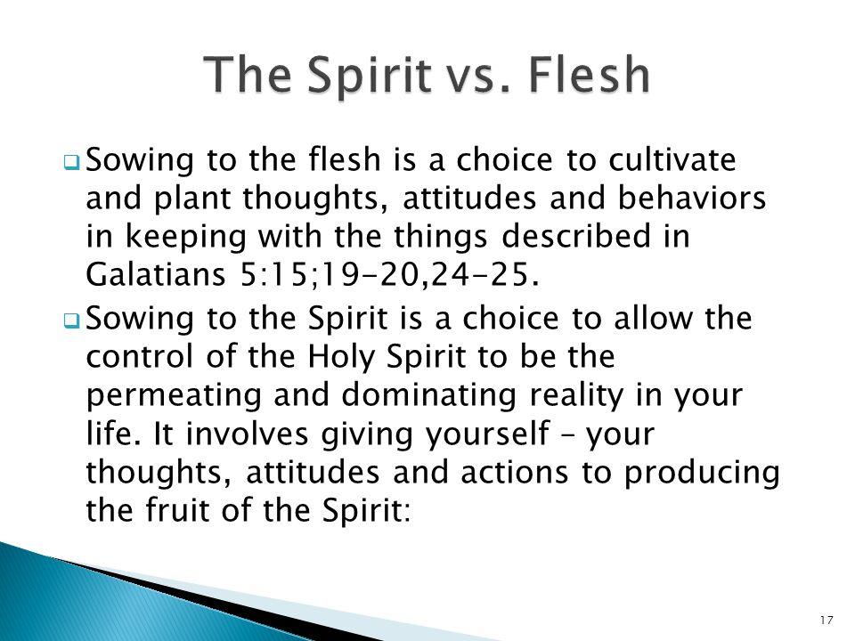 The Spirit vs. Flesh