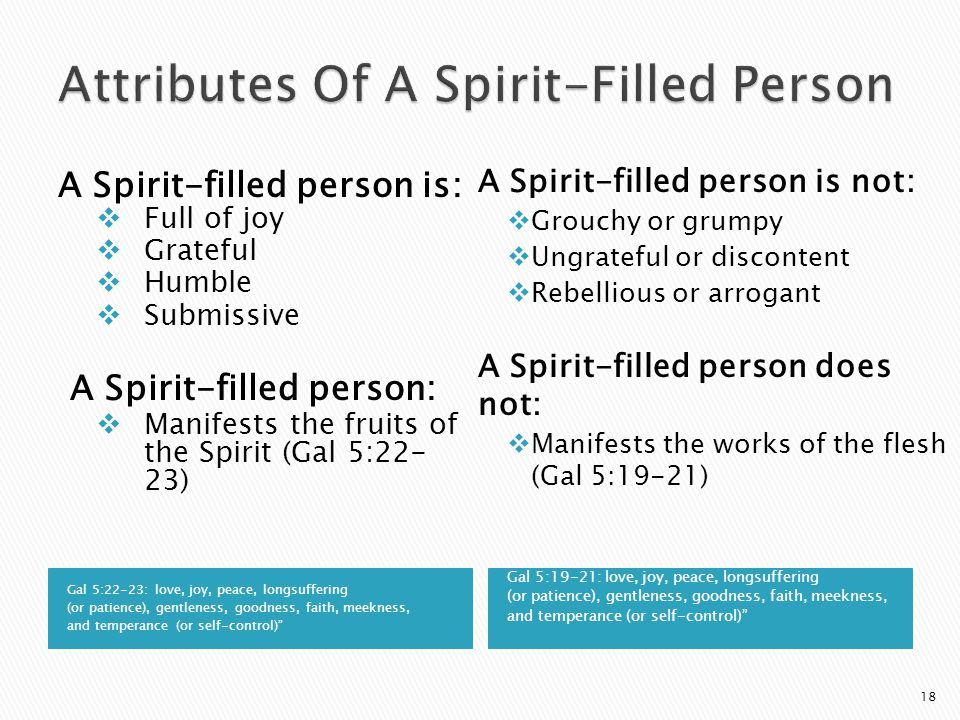 Attributes Of A Spirit-Filled Person
