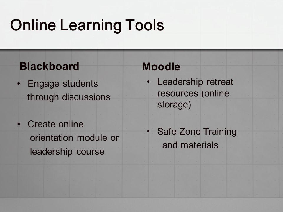 Online Learning Tools Blackboard Moodle