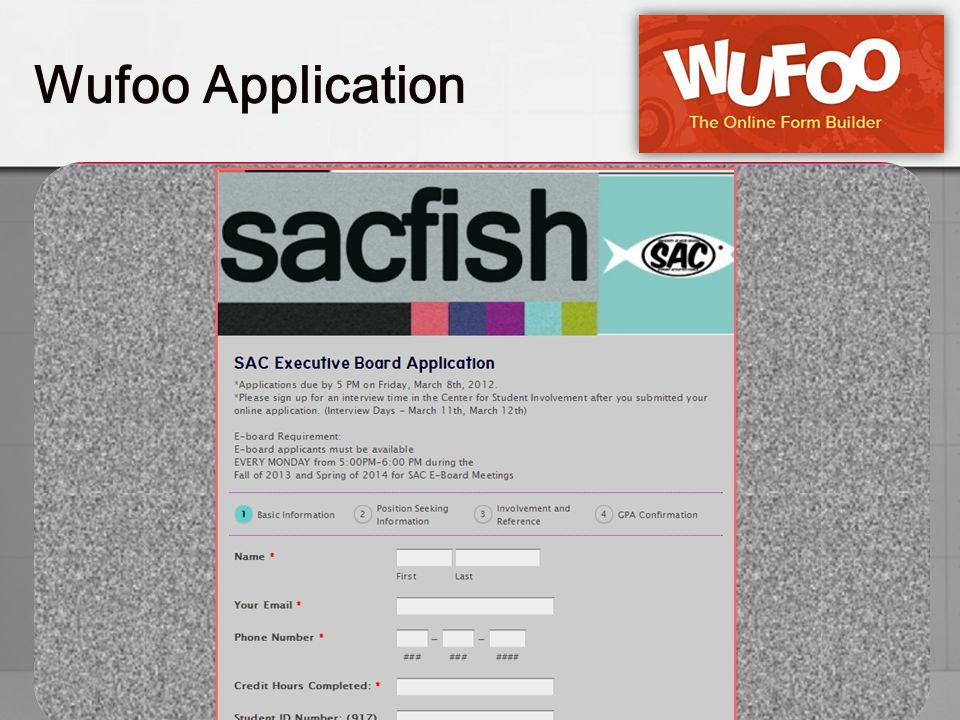 Wufoo Application