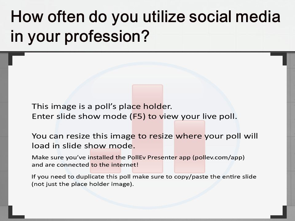 How often do you utilize social media in your profession