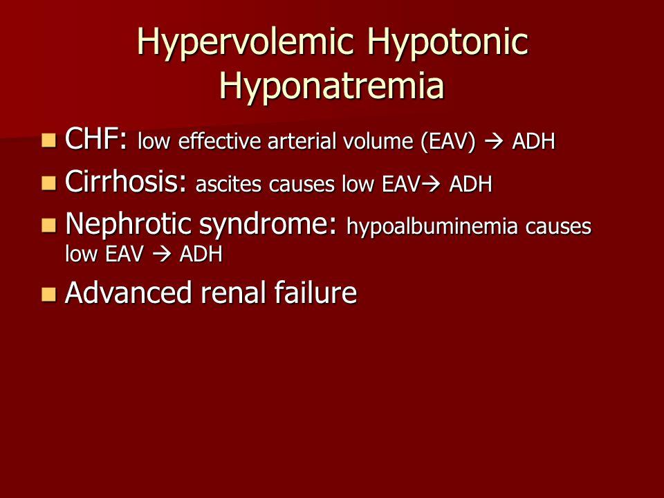 Hypervolemic Hypotonic Hyponatremia