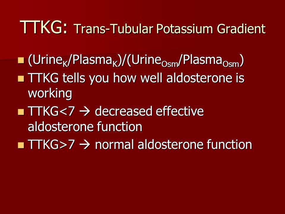 TTKG: Trans-Tubular Potassium Gradient