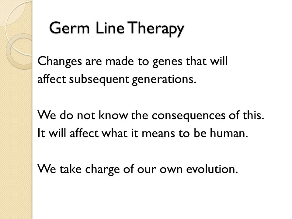 Germ Line Therapy