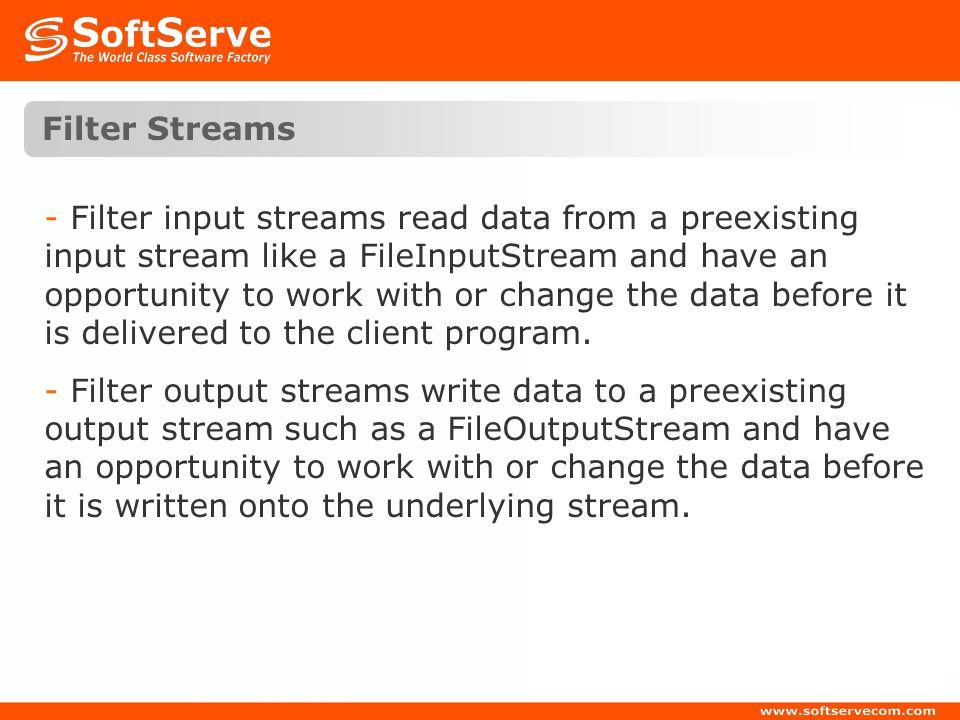 Filter Streams