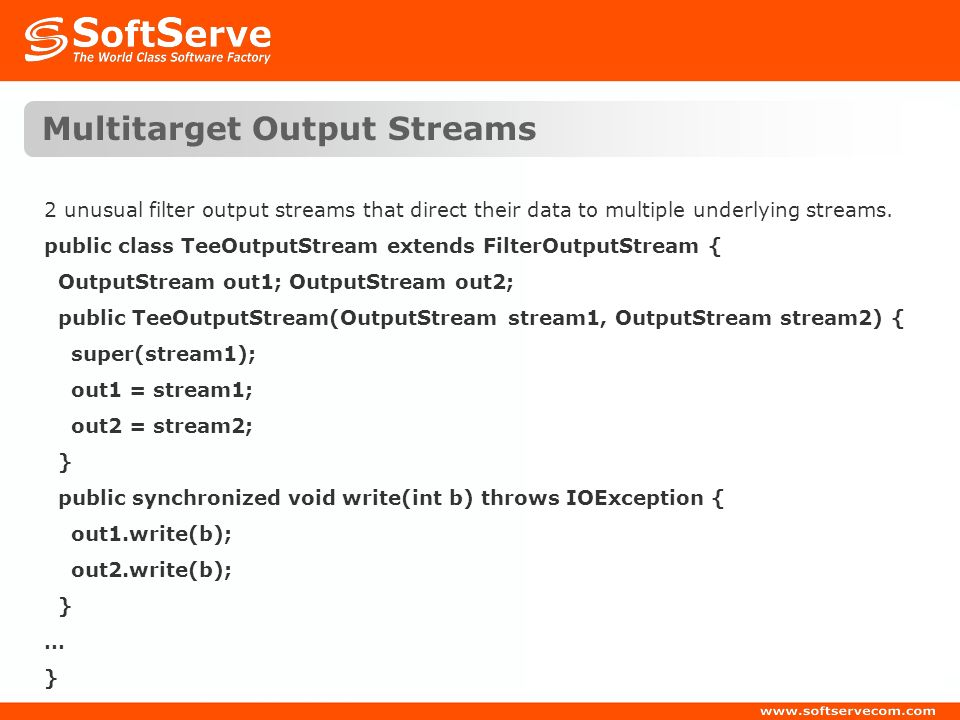Multitarget Output Streams
