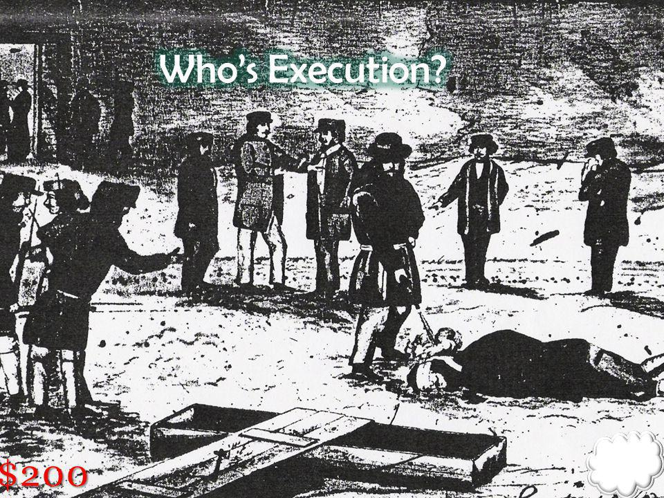 Who's Execution $200