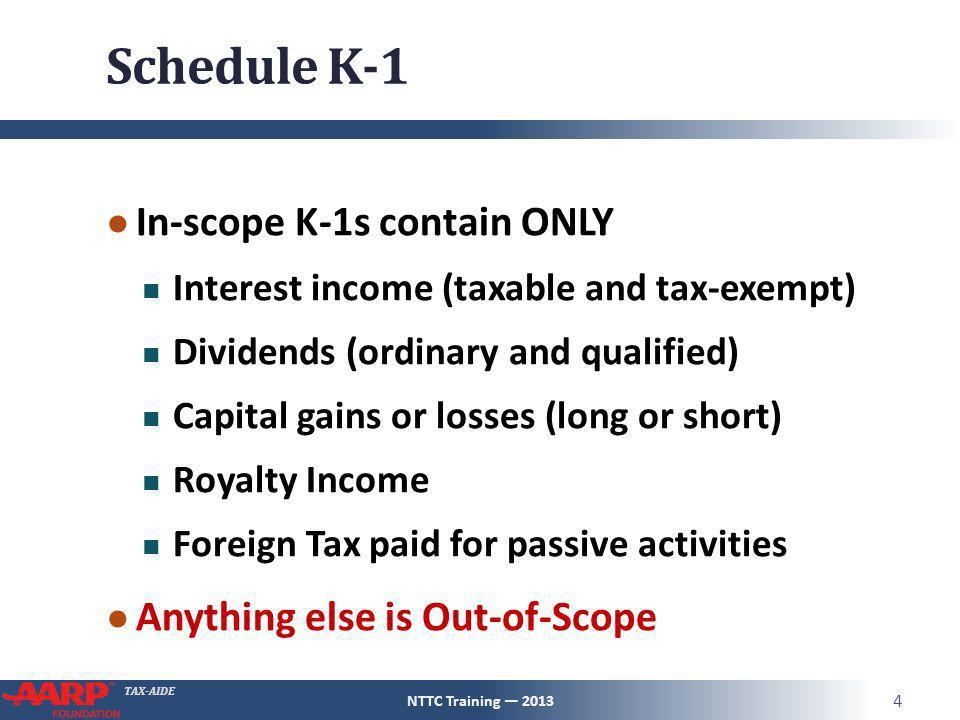 Schedule K1 Pub 4491 Pg 123 NTTC Training ppt download – 2013 Qualified Dividends and Capital Gain Tax Worksheet