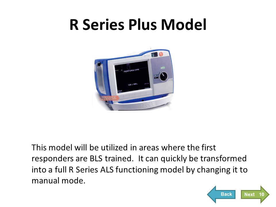 New R Series Features Real CPR Help See-Thru CPR