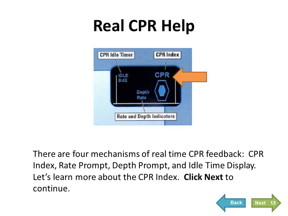CPR Index The CPR Index is a visual representation of the quality of compressions being performed.