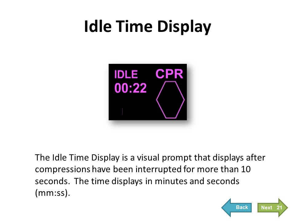 Idle Time Display