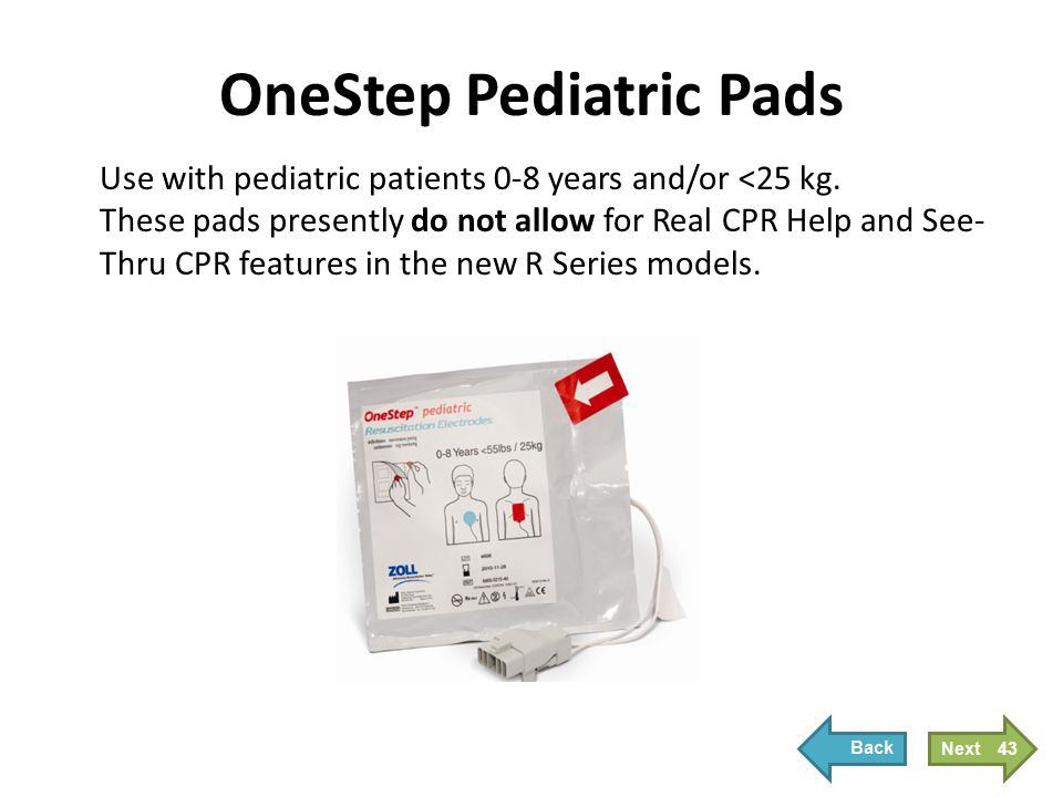 OneStep Pediatric Pads