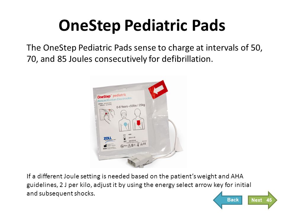 Applying Pediatric Pads
