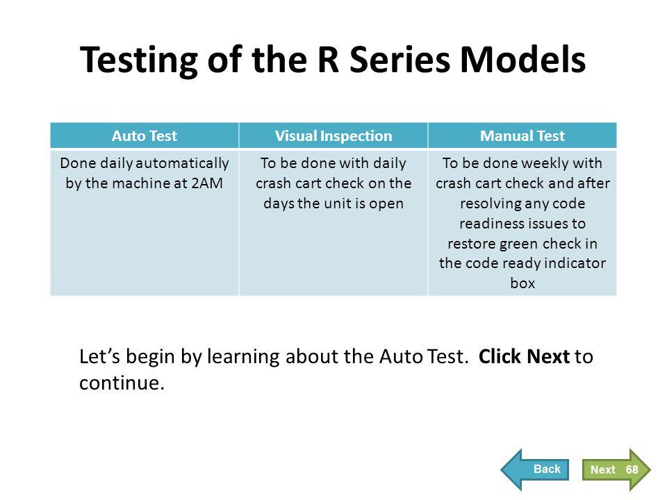 Auto Test Adult Units Peds Units