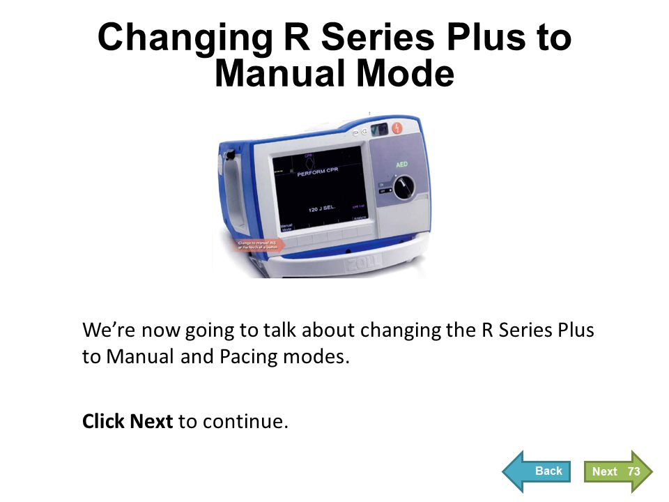 Changing R Series Plus to Manual Mode and Full ALS Functioning