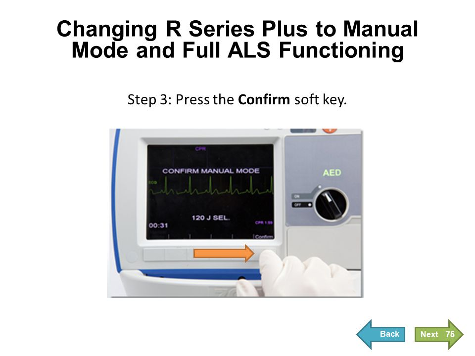 Changing R Series Plus to Pacing Mode