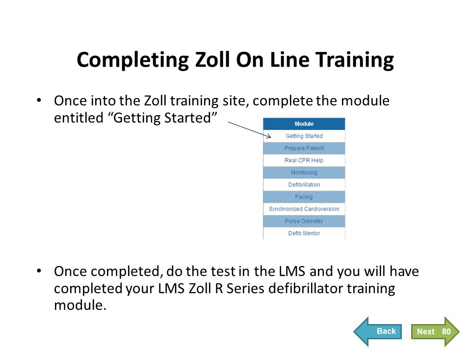 Completing Zoll On Line Training