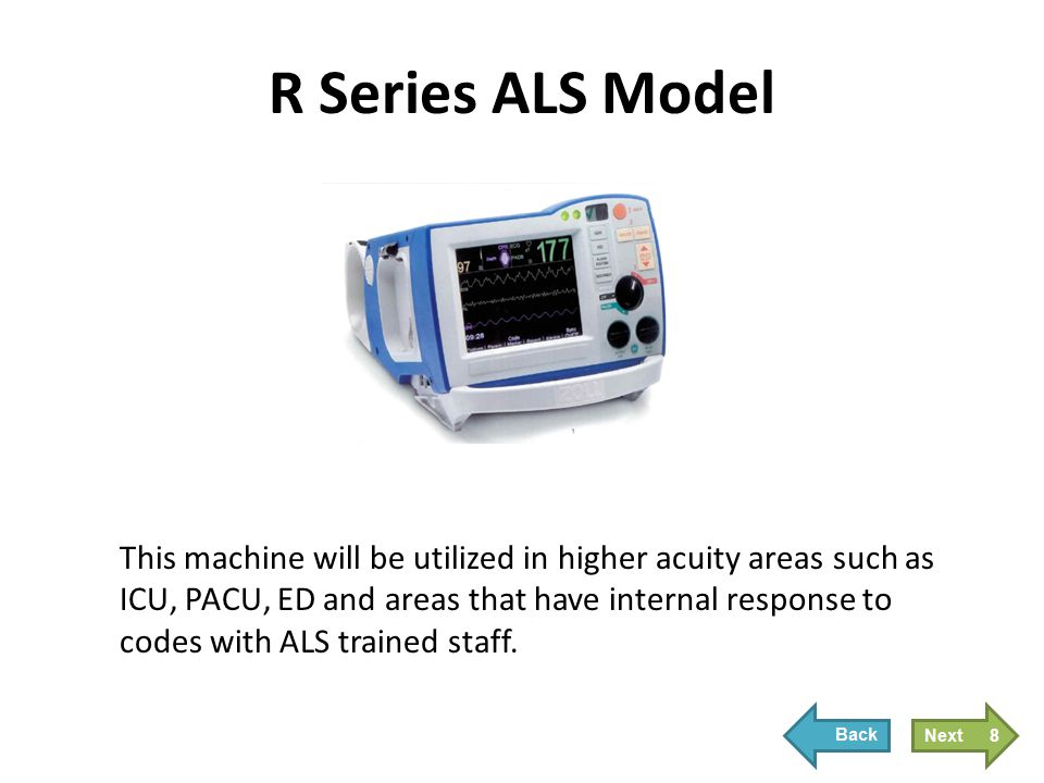 R Series Plus Model The R Series Plus model looks and performs like an AED.