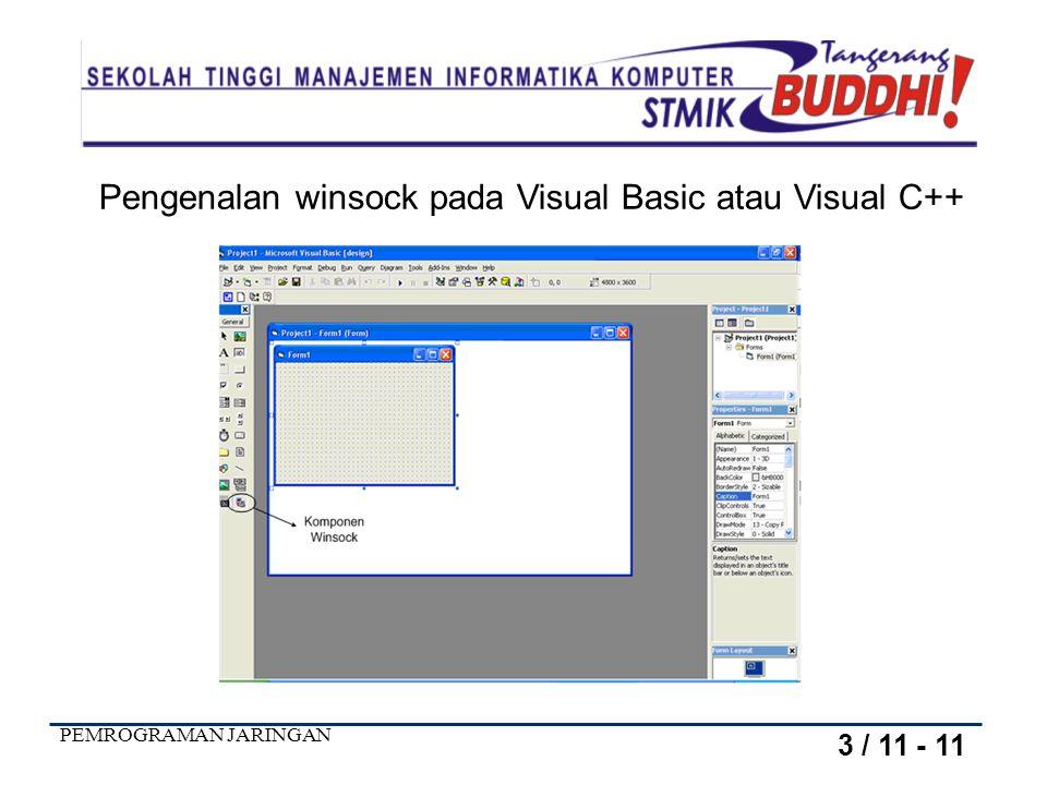 Pengenalan winsock pada Visual Basic atau Visual C++