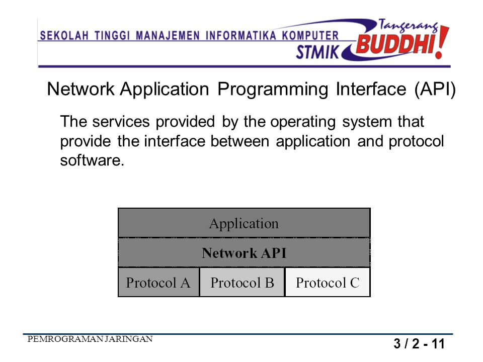 Network Application Programming Interface (API)