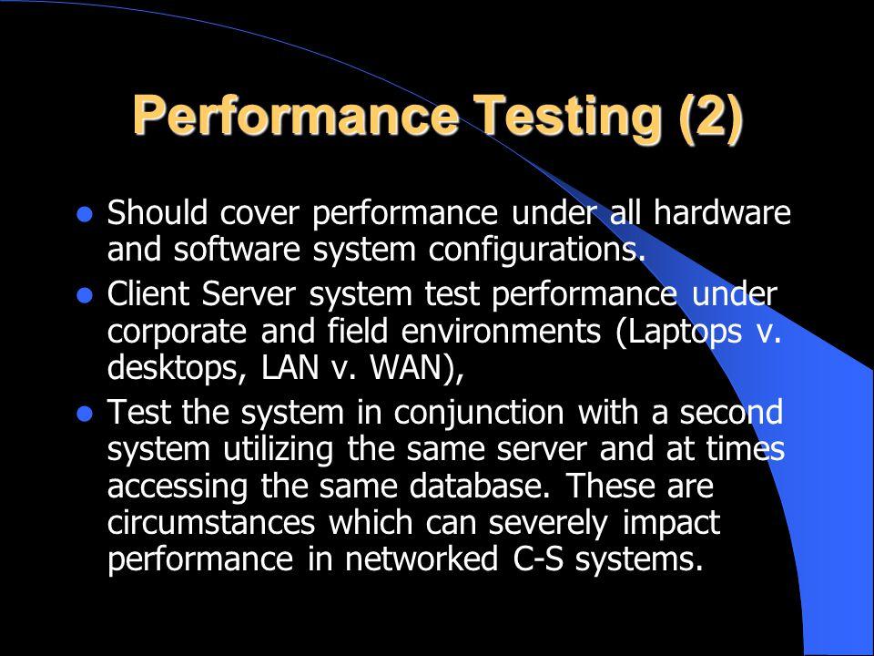 Performance Testing (2)