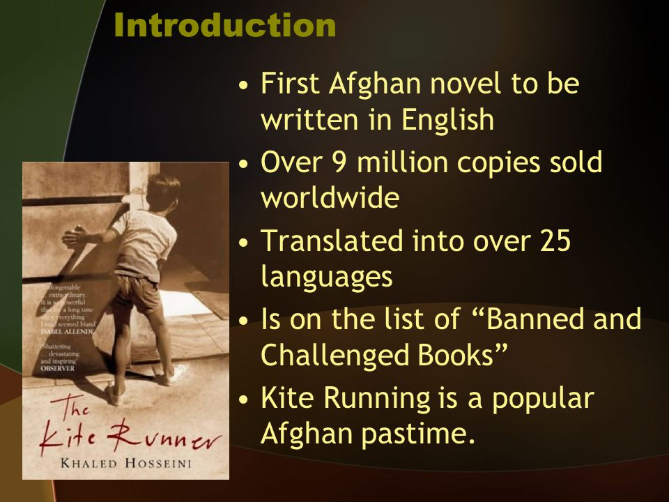 Introduction First Afghan novel to be written in English