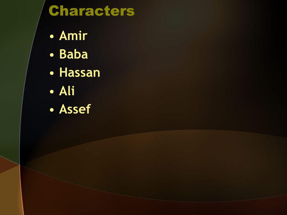 Characters Amir Baba Hassan Ali Assef