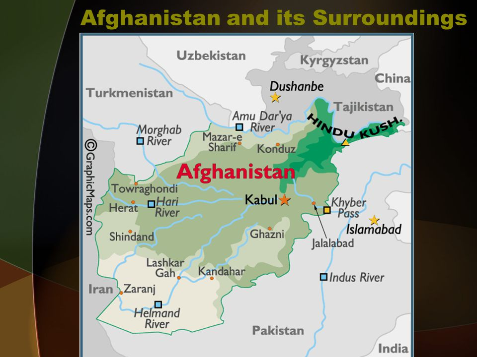 Afghanistan and its Surroundings