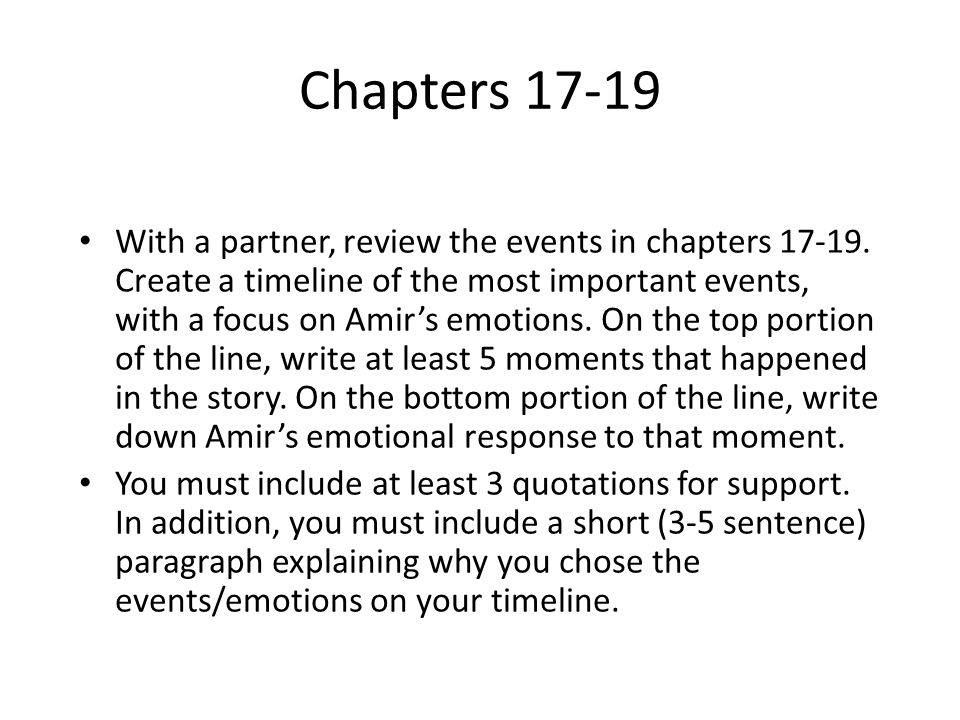 Chapters 17-19