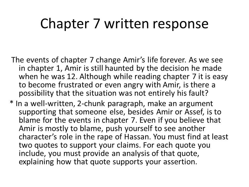 Chapter 7 written response
