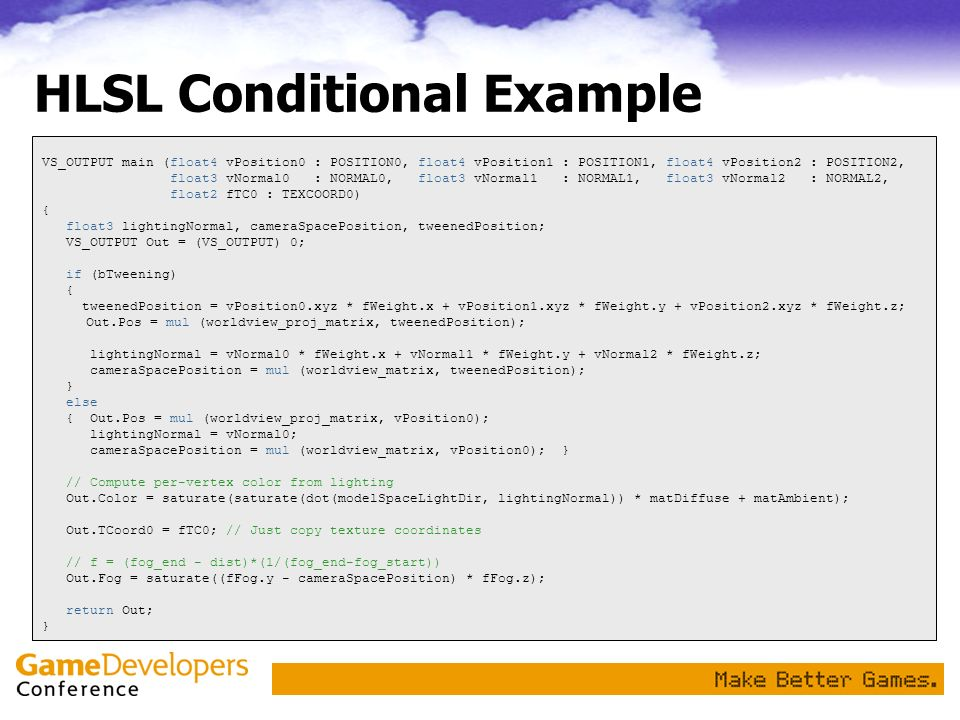 HLSL Conditional Example