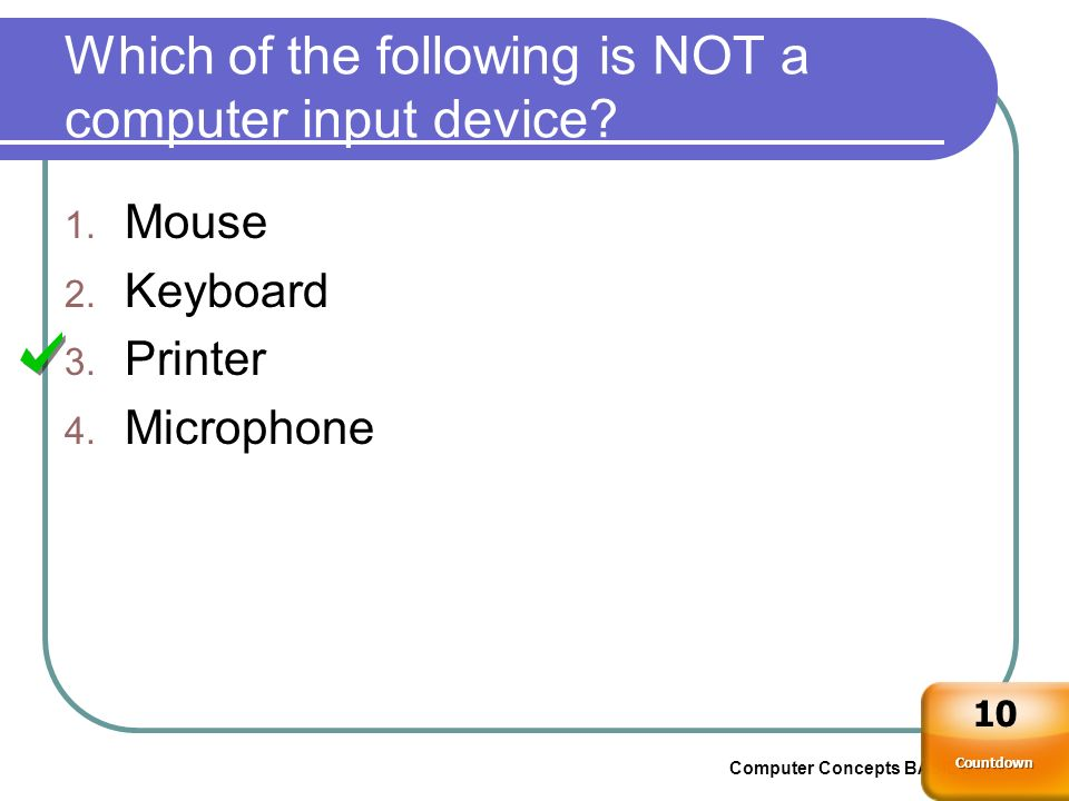 Which of the following is NOT a computer input device