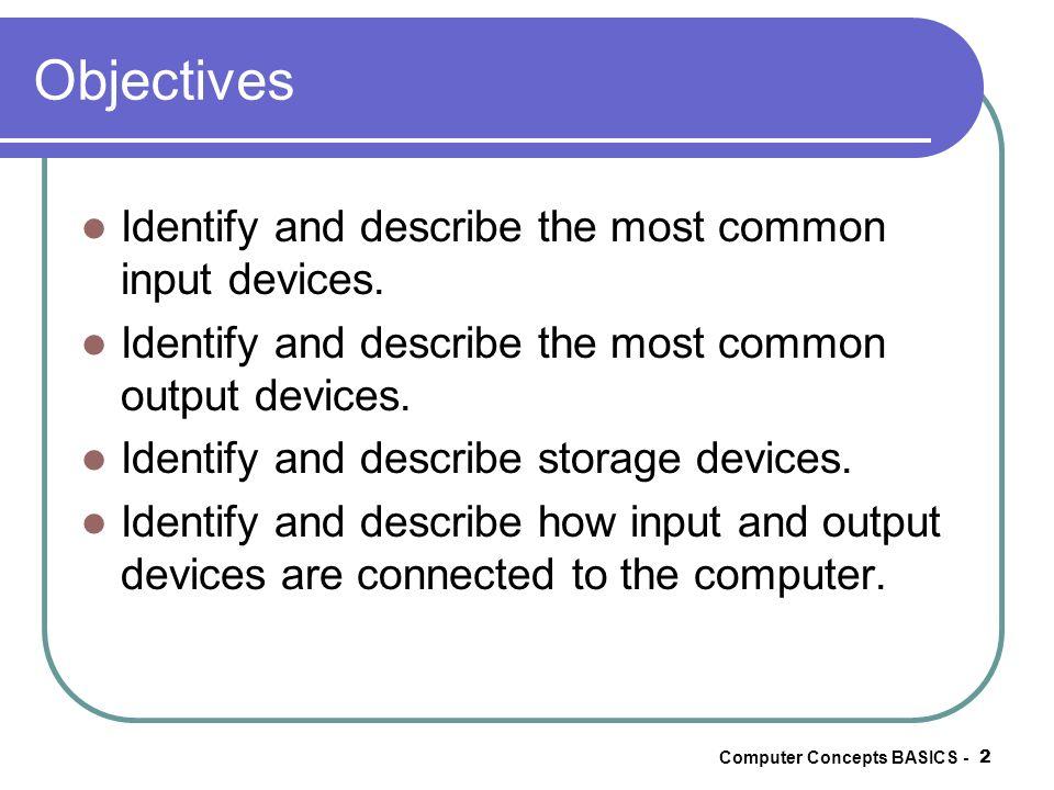 Computer Concepts BASICS -