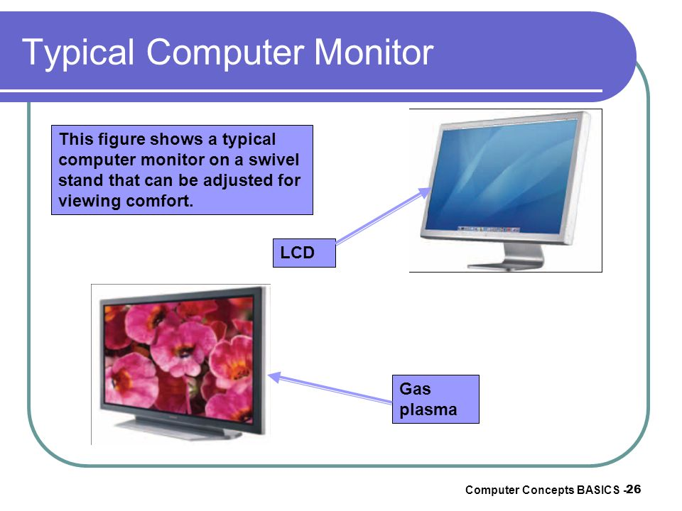 Typical Computer Monitor