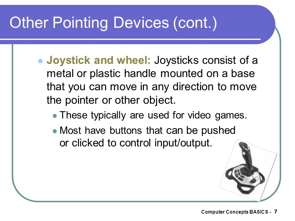 Other Pointing Devices (cont.)