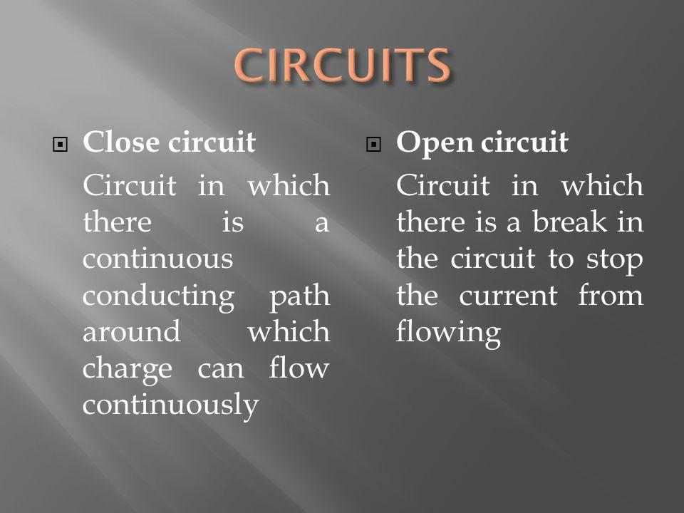 CIRCUITS Close circuit