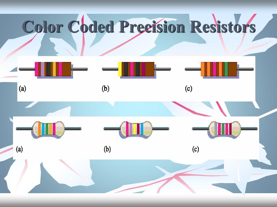 Color Coded Precision Resistors