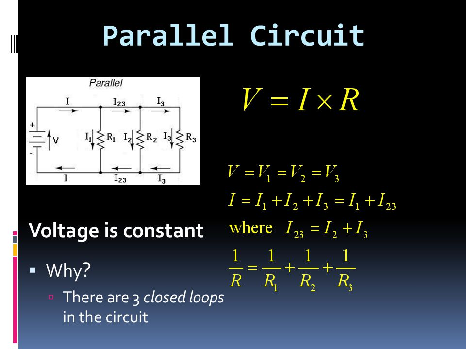 Parallel Circuit Voltage is constant Why